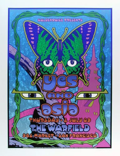 Yes and Asia Classic rock music concert poster psychedelic ☮ ☮❥Hippie Style❥☮☮