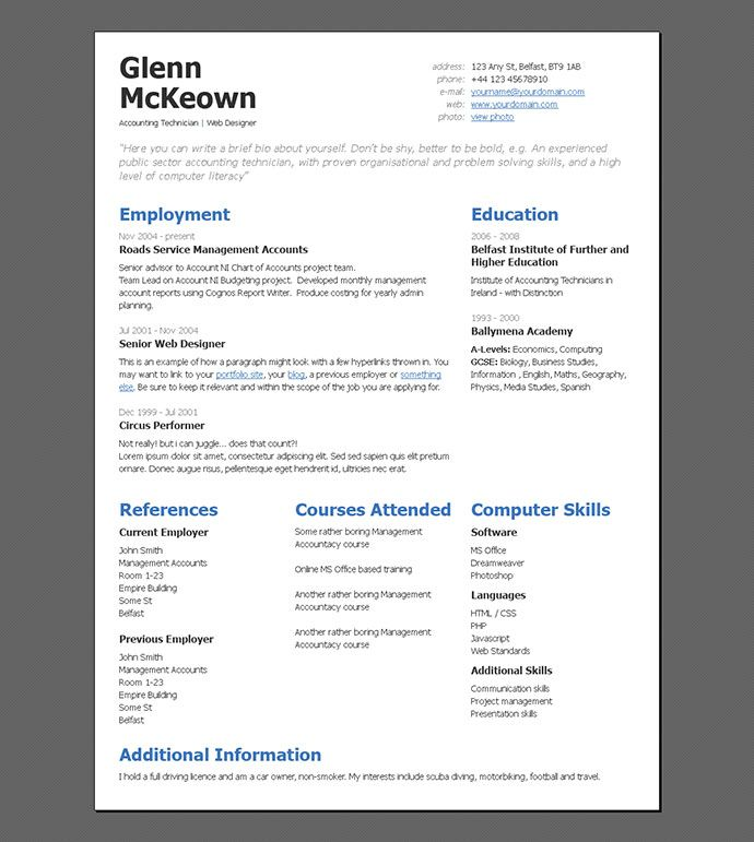87 best Resume \/ CV Templates images on Pinterest Curriculum - artsy resume templates