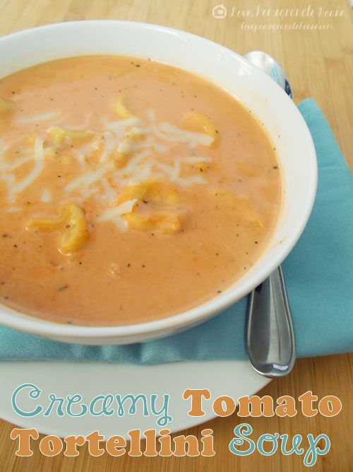 Tomato Tortellini Soup: This was SO damn good. Very quick & easy. I omitted the cream because of the calories but it was still full of flavor. We served with some salad and garlic bread. Mmm.