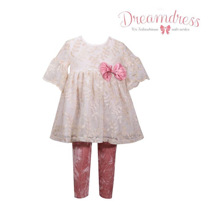 Traumhaftes Legen Set! Gefunden auf Dreamdress.at! #mädchen, #mädchenmode, #leggingSet, #festtagsmode, #cutegirlfashion, #baby, #babymode