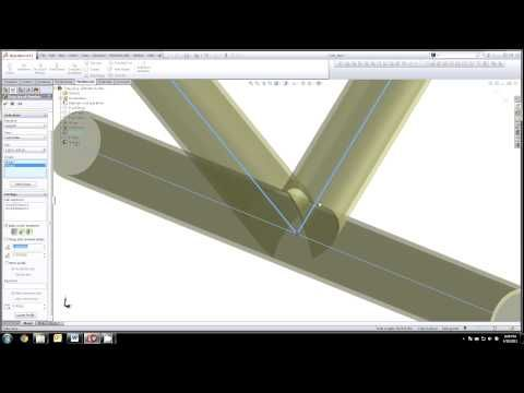 Solidworks 3D Sketch Tube Weldment, Cope Tubes, Flat Pattern Tubes, Paper Templates for Tube Ends - YouTube