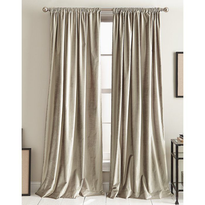 Modern Knotted Cotton Blend Solid Room Darkening Rod Pocket