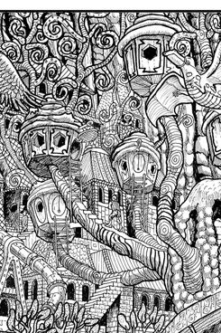 356 best Doodles to Color images on Pinterest | Coloring books ...