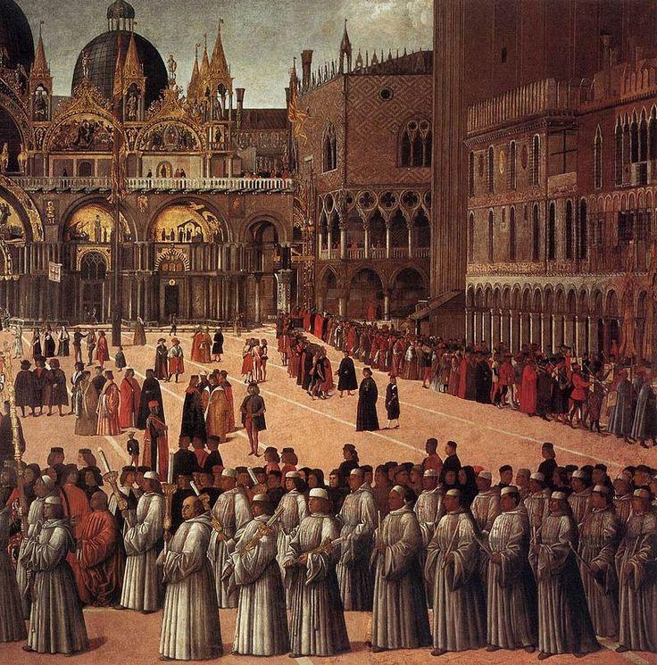 Gentile bellini, processione in piazza san marco 03.jpg