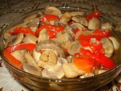 Маринованные грибы с перцем