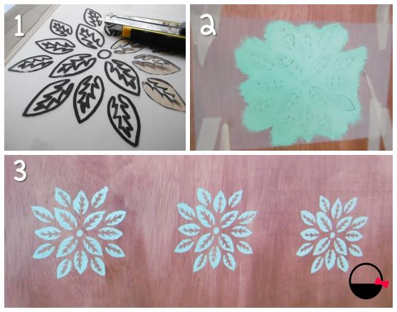 Decorar la pared con stencils
