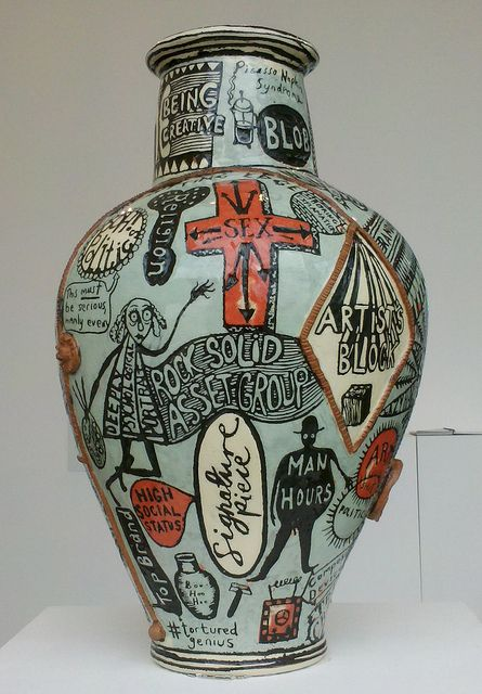 """The Existential Void"" by Grayson Perry, Victoria Miro Gallery, London. Image by Sezohanim/Flickr"