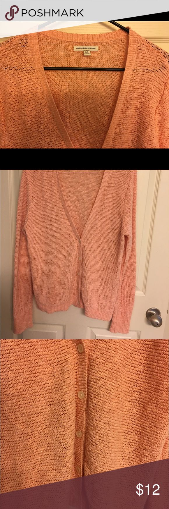 American Eagle Outfitters Cardigan American Eagle Outfitters Light Coral Shimmery Cardigan American Eagle Outfitters Sweaters Cardigans