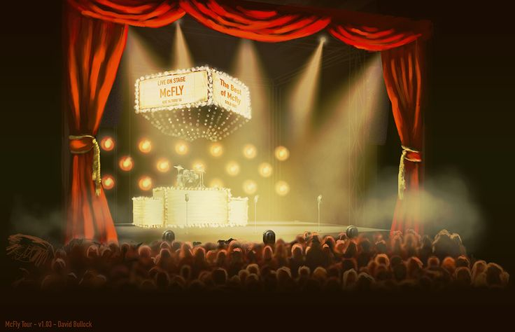 Best of McFly Tour 2013 stage concept art