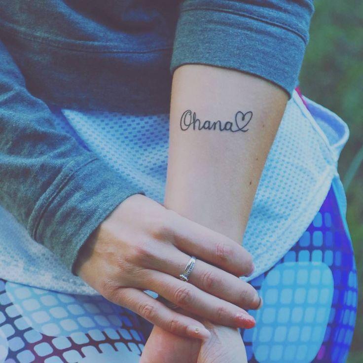 Friendship tattoo Ohana arm heart