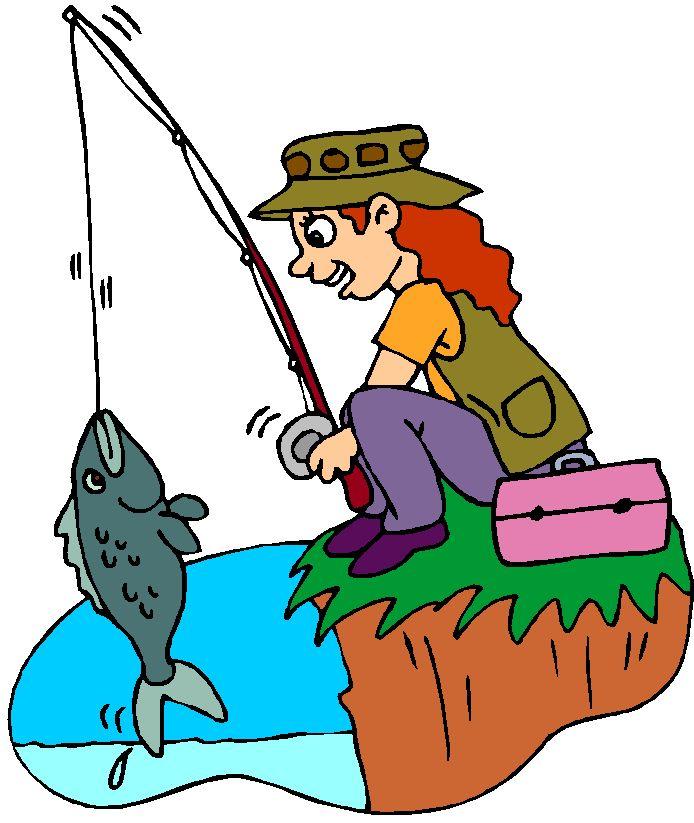 Картинка рыболов с удочкой