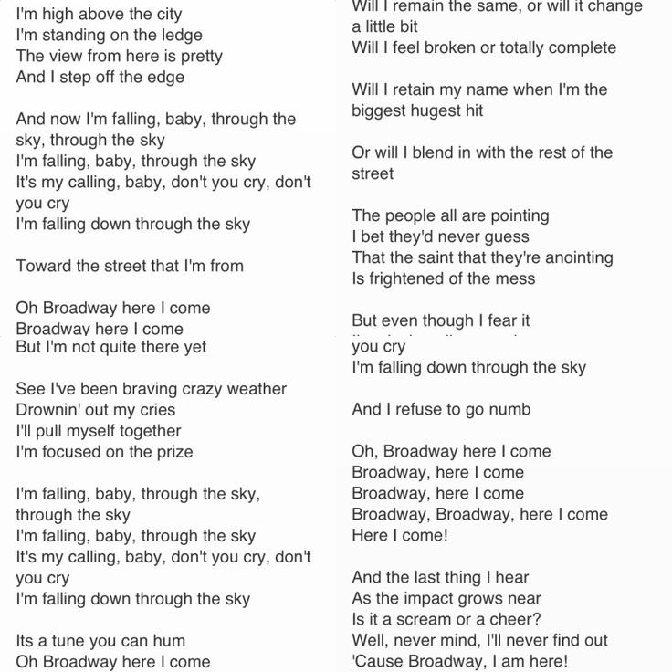 Lyric my most precious treasure lyrics : Broadway here I come! Lyrics song by Jeremy Jordan | Broadway ...
