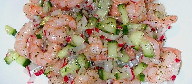 Heerlijke Lente Salade Met Garnalen recept