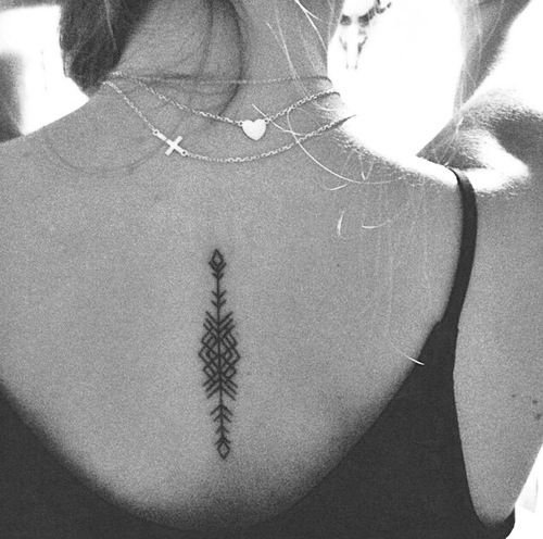 arrow back tattoo #ink #girly