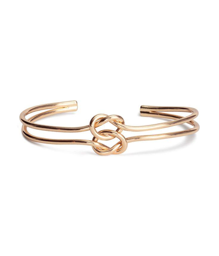 Pretzel Knot Bangle Bracelet   H&M Accessories