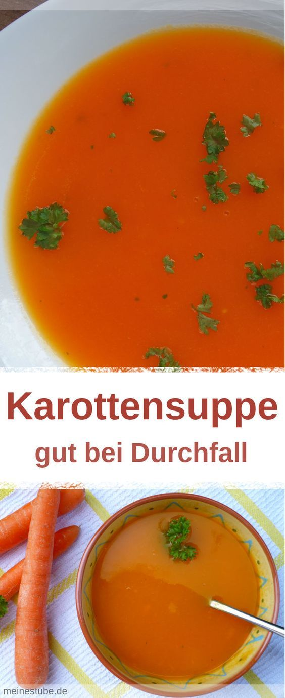 Rezept für eine Karottensuppe ohne Schnickschnack. Eine Möhrensuppe soll ja ein gutes Hausmittel bei Durchfall sein und den Flüssigkeitsverlust, vor allem bei Kleinkindern, entgegenwirken. Karottensuppe nach Moro. #suppe #durchfall #karottensuppe