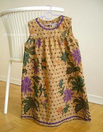 Lollipop Garden Crafts: Roots Sewing Series: Peranakan Batik (Casual Wear)