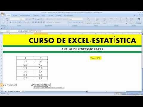 Função ou fórmula ou equação INCLINAÇÃO na Planilha Excel da Microsoft Corporation - Coeficiente ANGULAR da Reta de Regressão Declive de um segmento de reta na Matemática e Estatística Descritiva.  http://youtu.be/oAzfyx--2Nk