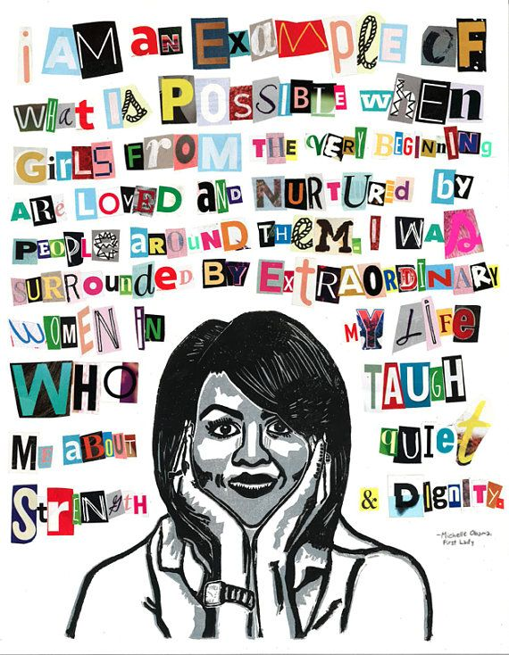 Michelle Obama Poster Badass Quotes By Badass Women
