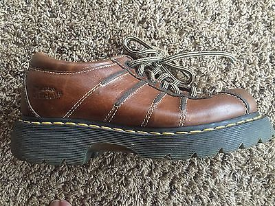 El Dr. Doc Martens Reino Unido realizó cuero marrón con cordones de zapatos Air Cushion 9a96 Para Mujer 6 nos