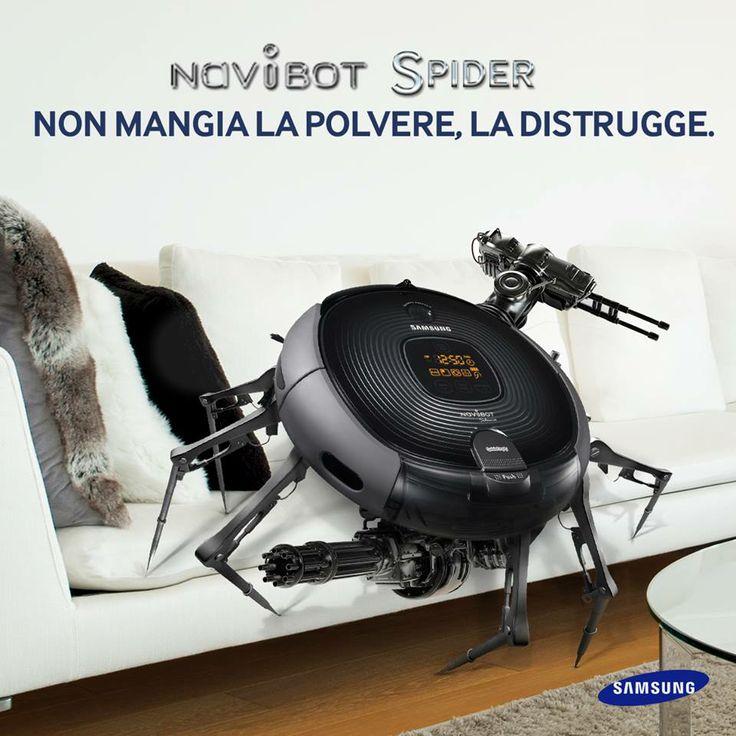 Navibot Spider, #Samsung per lo sporco difficile!