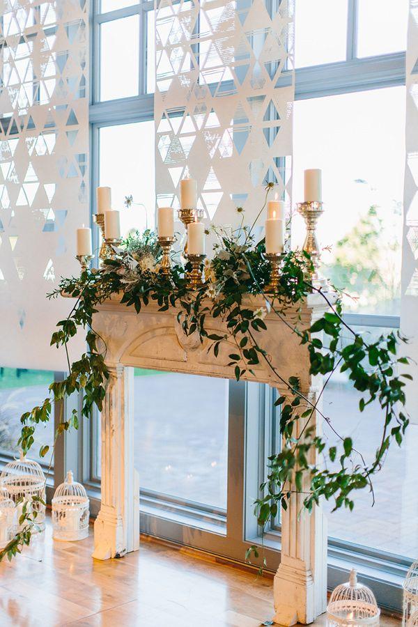 romantic ceremony backdrop - photo by Kristen Curette Photography http://ruffledblog.com/soft-european-wedding-inspiration