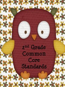 This item includes all of the 2nd Grade Common Core Reading Standards. You can print these to display as your learning goals or for your own person...
