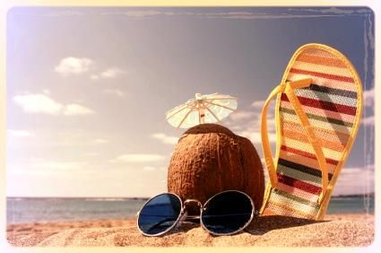 Vacaciones en la playa.