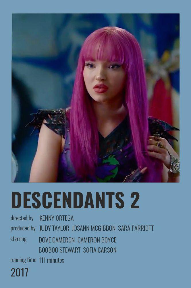 Descendants 2 2017 Polaroid Poster Iconic Movie Posters Indie Movie Posters Alternative Movie Posters