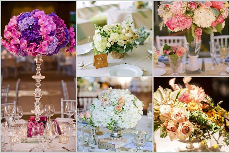 Композиции из живых цветов Wedding centerpiece