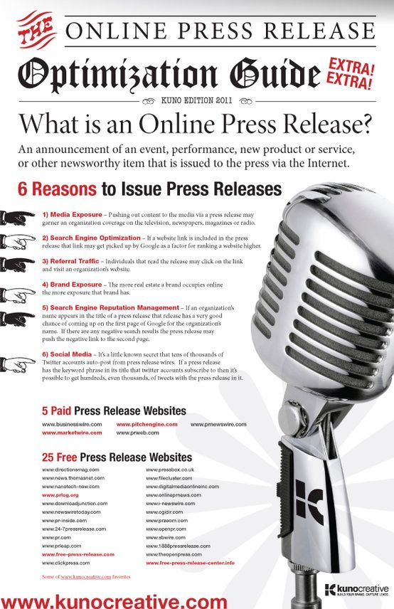 #Online #PressRelease, the Optimization Guide. #Infographic