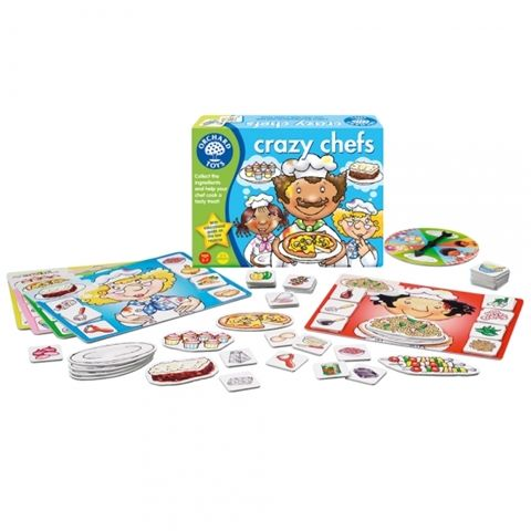 Crazy Chefs Educational card Game by Orchard Games - Available at Kids Mega Mart Online Shop Australia