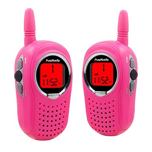 Walkie Talkies for Kids, 22 Channel FRS/GMRS Walkie Talkie 2 Way Radio 3 Miles UHF Walkie Talkies (1 Pair) Pink. For product info go to:  https://all4hiking.com/products/walkie-talkies-for-kids-22-channel-frsgmrs-walkie-talkie-2-way-radio-3-miles-uhf-walkie-talkies-1-pair-pink/