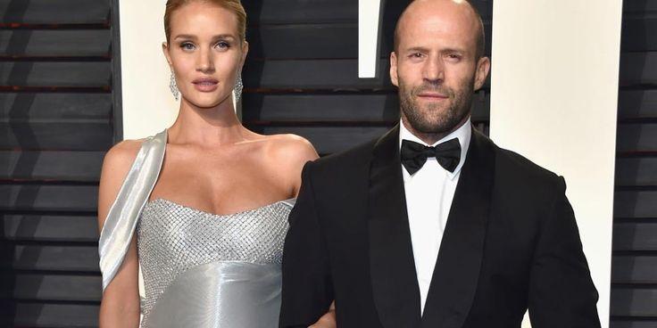 """""""Por fin llegó nuestro hombrecito"""": Rosie Huntington-Whiteley y Jason Statham debutan como padres"""