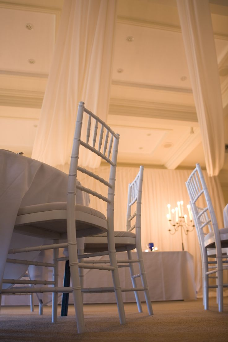 White tiffany chairs - Sydney Prop Specialists