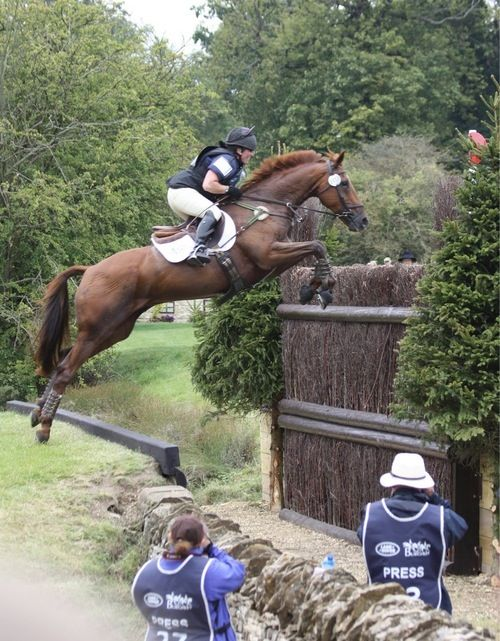 Horses jumping cross country - photo#37