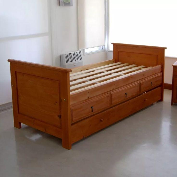 Cama divan carricama 3 cajones individuales cuadro for Cama divan con cajones
