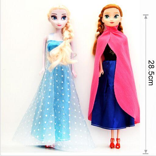 Vendita calda della principessa elsa anna bambola snow queen bambini ragazze giocattoli regali di compleanno di natale per i bambini sharon dolls spedizione gratuita