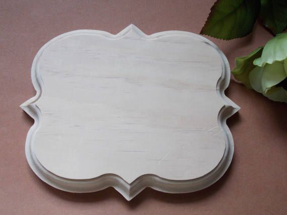 Four Point Fancy Unfinished Wood Plaque by MumkenzGiftShop on Etsy