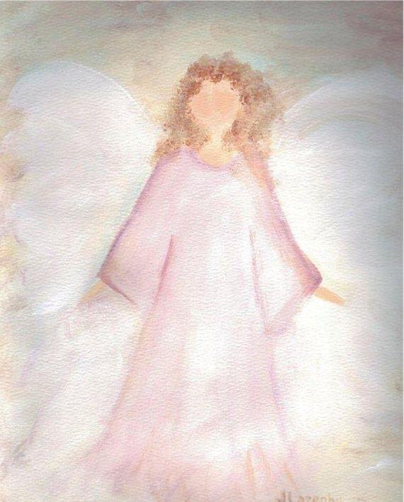 Angel Print Original art print original by JaneLazenbyartist, $18.00