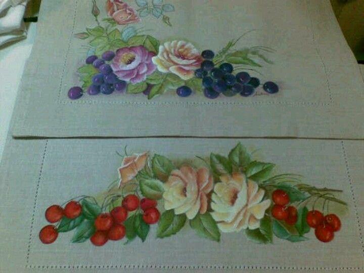 Cenefa de flores pintar tela pinterest - Flores de telas hechas a mano ...