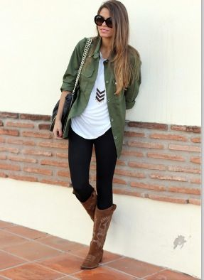 Like this outfit with the cowboy boots