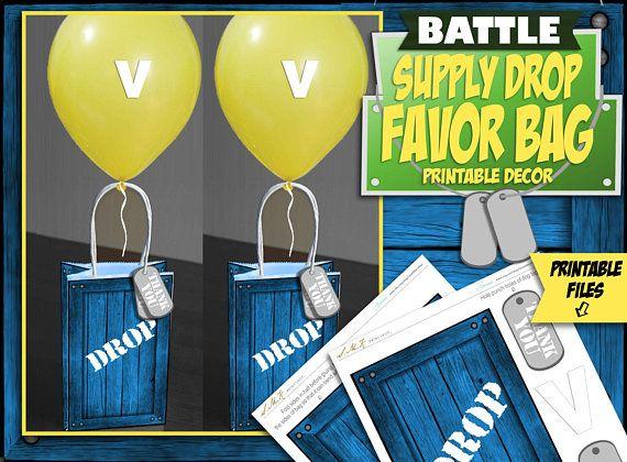 Printable Party Bag Decor Gift Bag Decorations Video