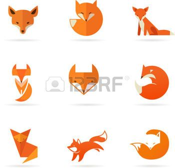 renard: Fox icônes, illustrations et éléments