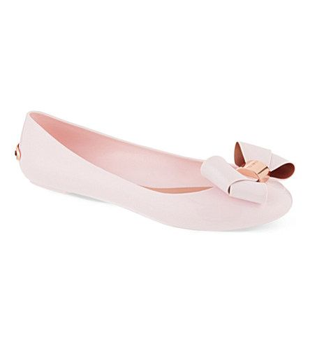 TED BAKER Large bow jelly pumps