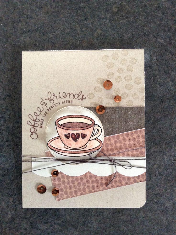 Объемная открытка с кофе, самому