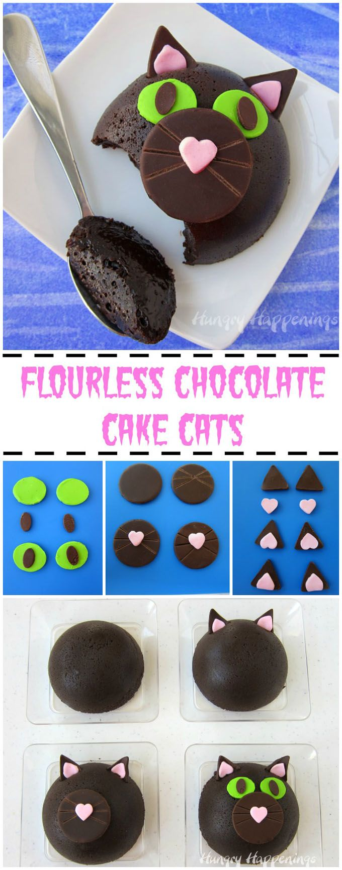 Diy party costume mask black cat kitten template printable - These Deep Dark Decadently Rich Flourless Chocolate Cake Halloween Cats Will Make Adults Forget That They Are Too Old To Collect Candy On Halloween