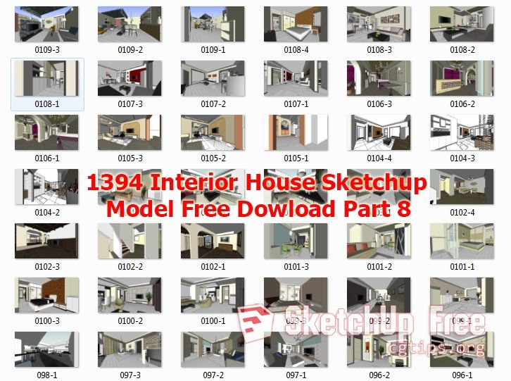 1394 Interior House Sketchup Model Free Download Part 8