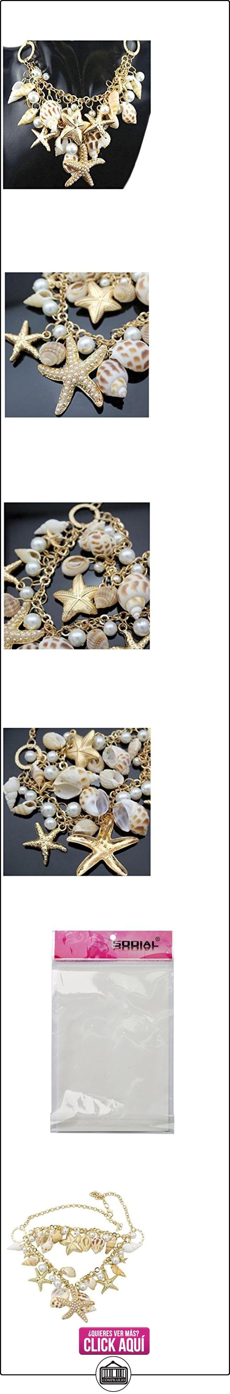 Collar - SODIAL(R)Estilo del oceano Multi estrellas de mar Estrella de mar Caracola marina Concha Perlas Collar de cadena de estrellas de mar Dorado  ✿ Joyas para mujer - Las mejores ofertas ✿ ▬► Ver oferta: https://comprar.io/goto/B01BHFMJ2I