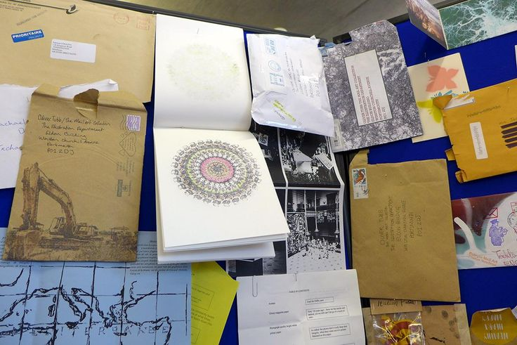 Mail Art display by BA Illustration Students.